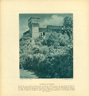 ORZINUOVI - CASTELLO DI BARCO - IMMAGINE RITAGLIATA DA CALENDARIO DEGLI ANNI 30  - CM 23 X 23 - Immagine Tagliata