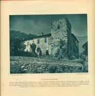 GORZONE - CASTELLO DI GORZONE - IMMAGINE RITAGLIATA DA CALENDARIO DEGLI ANNI 30  - CM  23 X 21 - Immagine Tagliata