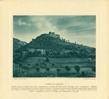 PARATICO- CASTELLO DI PARATICO- IMMAGINE RITAGLIATA DA CALENDARIO DEGLI ANNI 30  - CM  23 X 22 - Immagine Tagliata