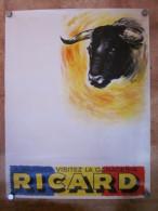 Affiche Publicitaire Ganaderia Ricard A Mejanes , Illutrée Par Henry Couve , * VP - Posters