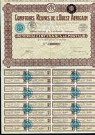 COMPTOIRS REUNIS DE L'OUEST AFRICAIN - Action De 100 Francs - Cotonou - DAHOMEY. - Asie