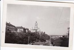 Foto Ort Mit Kirche Mit Zwiebeltürmen - Osteuropa - Ca. 1940 - 8,5*5,5cm (36083) - Orte