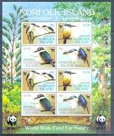 K104- Norfolk Island 2004 Stamps Bee Eaters Birds. Australia. WWF. W.W.F. - W.W.F.