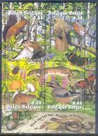 K108- Belgium 2004 Forest Week Sheet. Nature Animals (others & Mixed) Butterflies. Insects. - Butterflies