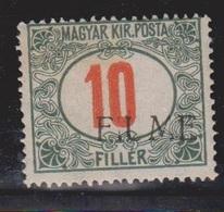 FIUME Scott # J8c MH - Overprint On Stamp Of Hungary - 8. WW I Occupation