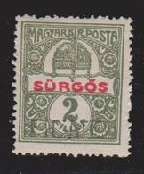 FIUME Scott # E1 MNH - Overprint On Stamp Of Hungary - 8. WW I Occupation