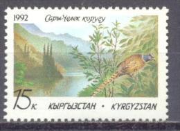 1992. Kyrgyzstan, Natur Reserve, Bird, 1v, Mint/** - Kyrgyzstan