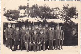 Foto Gruppe Deutsche Soldaten -  2. WK - 8,5*5,5cm (36087) - Krieg, Militär