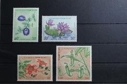 Laos 379-382 ** Postfrisch Blumen #RU721 - Laos