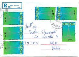Busta Come Da Scansione ( Primi Giorni Con Prima Emissione Slovena ) - Slovenia