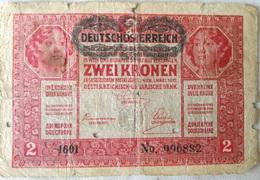 Billete Imperio Austro-Húngaro. 2 Koronas. 1917. I Guerra Mundial - Austria