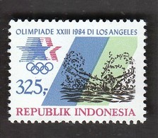Indonesia / Olympic Games Los Angeles 1984 / Swimming / Mi 1145 / MNH - Swimming