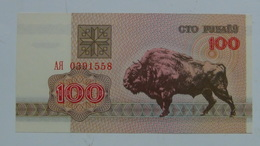 Billete Bielorrusia. 100 Rublos. 1992. Sin Circular - Belarus
