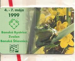 TC-PUCE-SLOVAQUIE-GEM6-100J-/1999-GRENOUILLE-CROCUS JAUNE-NSB-TBE - Slovaquie