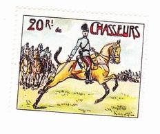 Vignette Militaire Delandre - 20ème Régiment De Chasseurs à Cheval - Erinofilia