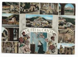 SALUTI DA CASCIA - VIAGGIATA FG - Perugia