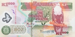 Zambia 1.000 Kwacha, P-44b (2003) - UNC - Zambie