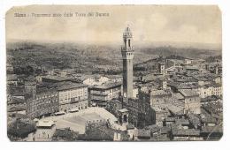 SIENA  - PANORAMA VISTO DALLA TORRE DEL DUOMO   - VIAGGIATA FP - Siena