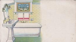 PAPEL SECANTE BLOTTER BAÑO BATHROOM C EN H. CIRCA 1900s-TBE- BLEUP - Wassen En Poetsen