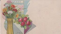 PAPEL SECANTE BLOTTER FLORES FLOWERS FLEURES BOUQUET C EN H. CIRCA 1900s-TBE- BLEUP - Blotters