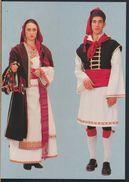 °°° 8664 - ALBANIA - VILLA BADESSA COSTUME ALBANESE °°° - Albania