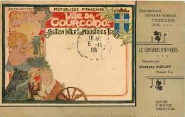 210818 - 59 TOURCOING Exposition Internationale 1906 Concours Affiche Maquette QUESNAY DUFLOT 1er Prix - Art Nouveau - Tourcoing