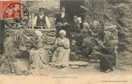 20 , OREZZA , Groupe De Fileuses ,  * 188 85 - Francia