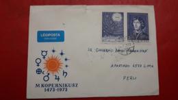 La Roumanie Enveloppe FDC Copernico Circulé Avec Une Grande Quantité De Timbres - Persönlichkeiten