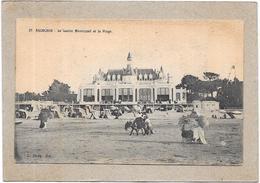 ARCACHON  - 33 - COTE D'ARGENT - Le Casino Municipal Et La Plage - Âne Au 1er Plan RARE  - BARA** - - Arcachon