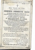 DEV51/ °GEEL 1821 + ANTWERPEN 1884 E.H.JOSEPHUS DAUSI PASTOR:ST.P.WOLUWE/LAEKEN/ANTWERPEN.. - Religion & Esotericism