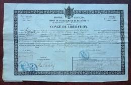 Congé De Libération 1863 . Jean Argoult Fusilier Au 61e De Ligne . Sérandon , Liginiac , Corrèze . Campagne D'Italie . - Documents