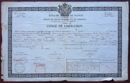 Congé De Libération 1845 Antoine Arnoult Bat. D'ouvriers D'administration . Briel , Aube . Tailleur Brienon . Remplaçant - Documents