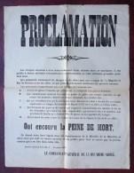 Affiche Guerre De 1870-71 . Quartier Général Prussien Nov. 1870 . Peine De Mort Aux Espions , Saboteurs , Etc. - Documents