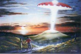 5164 - Abduction, Enlèvement D'humains Par Un Ovni Devant 2 Témoins (ufo, Soucoupe Volante, Extraterrestre) - Fantasia