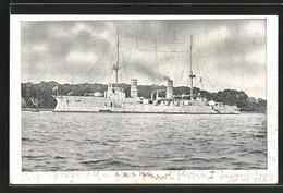 AK Kriegsschiff SMS Freya, Gesamtansicht - Guerra