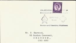 J) 1988 UNITED KINGDOM, QUEEN ELIZABETH II, 4TH KENTON GROUP DEDICATION OF NEW CARTERS, BLACK CANCELLATION, SCOUT EMBLEM - 1952-.... (Elizabeth II)