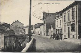 88 GOLBEY . La Poste Et Rue D'Epinal , Vieille Voiture Animée , édit : ?  , écrite En 1934 , état Extra - Golbey