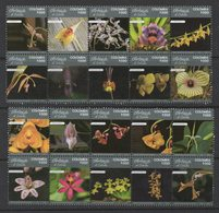 A115.-. KOLUMBIEN - ORCHIDS, MNH- SET X 20 STAMPS, 2018  ISSUE. - Colombia