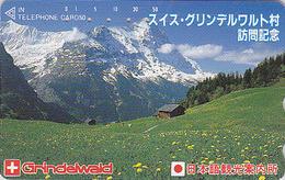 Télécarte Japon / 110-59402 - SUISSE Montagne - GRINDELWALD - Mountain Japan Phonecard Switzerland - Site 192 - Montagnes
