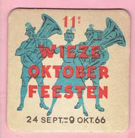 Bierviltje - 11° Wieze Oktober Feesten 1966 - Beer Mats