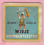 Bierviltje - 12° Wieze Oktober Feesten - 1967 - Bierdeckel