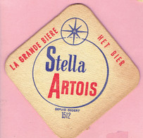 Bierviltje - Stella Artois - Sedert 1512 - Beer Mats