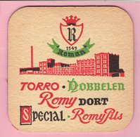 Bierviltje - Roman - Torro - Dobbelen - Romy Dort - Special - Romy Pils - Beer Mats