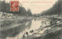 """CPA FRANCE 11 """"Narbonne, Quai Victor Hugo, Canal De La Bobine"""". - Narbonne"""