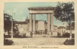 """CPA FRANCE 11 """" Montréal, Le Monument Aux Morts"""". - Autres Communes"""