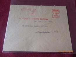 Lettre Du Maroc Francais De 1954 Avec EMA - Maroc (1891-1956)