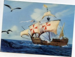 "VOILIER ""S. MARIA VESSEL"" HOLOGRAMME 3 D RELIEF - Sailing Vessels"