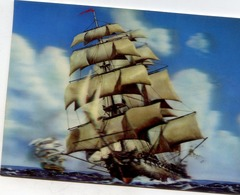 """VOILIER """"ENGLISH SAILING  VESSEL"""" HOLOGRAMME 3 D RELIEF - Segelboote"""