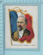 Raymond Poincare France Et Drapeau,  -  Cartes Tissu Prime Cigarette Silk Card I.T.C - Non Classificati