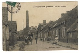 62 ECOURT Saint QUENTIN CPA Rue De La Fabrique - Francia